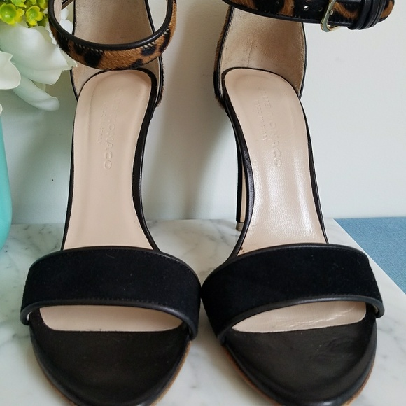 f2c1168fc5be9 Club Monaco Shoes - Club Monaco Casey leopard calf hair heels sandals